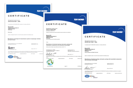Certificates thanks to certified standards